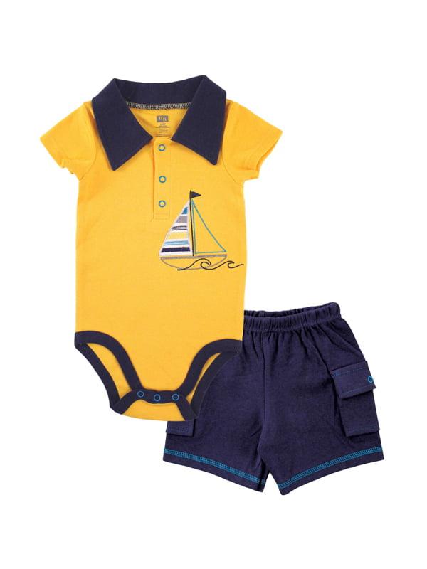 Lito Blue Stripe Seersucker Suspender Shorts Outfit Boys 12M-4T