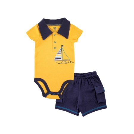 Boys' Bodysuit & Cargo Shorts, 2pc Outfit Set ()