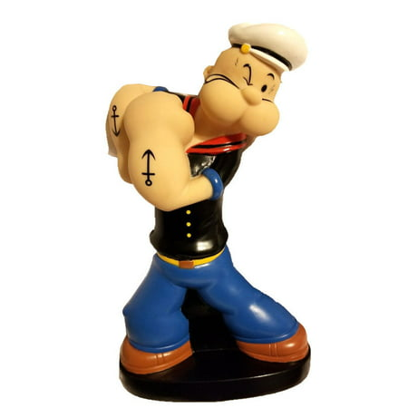 """Popeye Plastic Coin Bank NEW Popeye Figural Doll 10"""" Collectible Coin Piggy Bank"""
