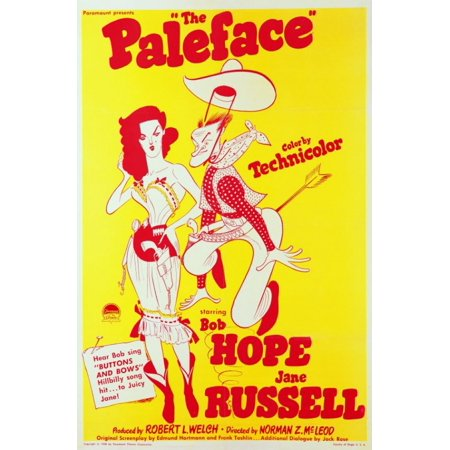 The Paleface Movie Poster (11 x 17) - Pale Face Halloween