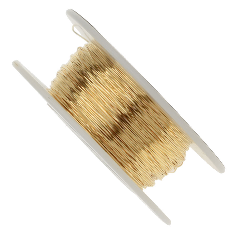 Vintaj Parawire, Solid Brass Craft Wire 28 Gauge Thick, 180 Foot Spool, Brass