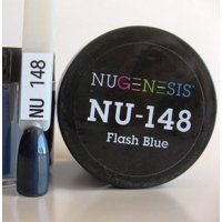 NUGENESIS Nail Color Dip Dipping Powder 1oz/jar - NU148 Flash Blue