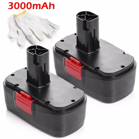 Powerextra 2-Pack 3000mAh 19.2V Replacement Battery for Craftsman C3, 130279005, 11375, 11376, 11045, 1323903, 315.115410, 315.11485, 315.114850, 315.114852 19.2 Volt Craftsman Power Tools - Fs180bx Fs18bx Fsb18 Power Tools