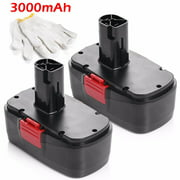 Powerextra 2-Pack 3000mAh 19.2V Replacement Battery for Craftsman C3, 130279005, 11375, 11376, 11045, 1323903, 315.115410, 315.11485, 315.114850, 315.114852 19.2 Volt Craftsman Power Tools Batteries