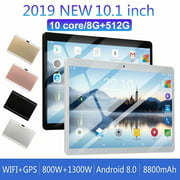 10.1inch 8G+512G WiFi Tablet Android 8.0 HD 1960 x 1080 Bluetooth Game Tablet Computer With Dual Camera SupportDual Standby Rose Gold