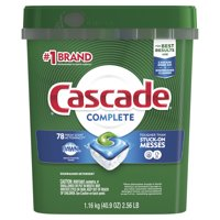 Cascade Complete ActionPacs Dishwasher Detergent, Fresh Scent, 78 Ct