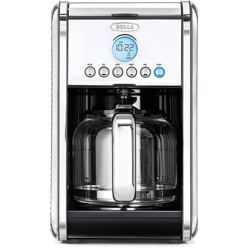 bella coffee maker linea collection 12 cup coffee maker walmart 31402