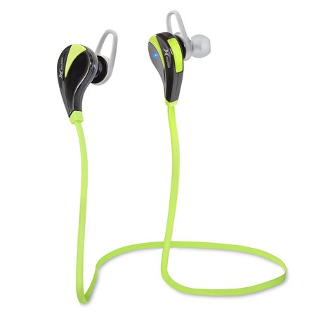 Dashblu Wireless Earbuds with Mic. For all iPhones (including 7), Androids & Tablets. Get Your 30-feet range Sweatproof buds Now! Music/Exercise/Calls and just for Fun. Quality Reception. (Green)