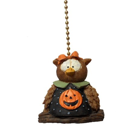 Halloween Pumpkin Owl Ceiling Fan Pull Fall Holiday Decoration, 2 high and made of highly detailed sculpted resin in a 3D design. By Clementine - Clementine Halloween Treats