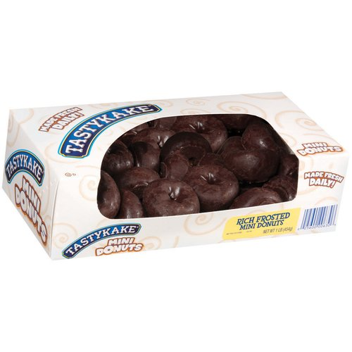 Tastykake Rich Frosted Chocolate Mini Donuts, 1 lb