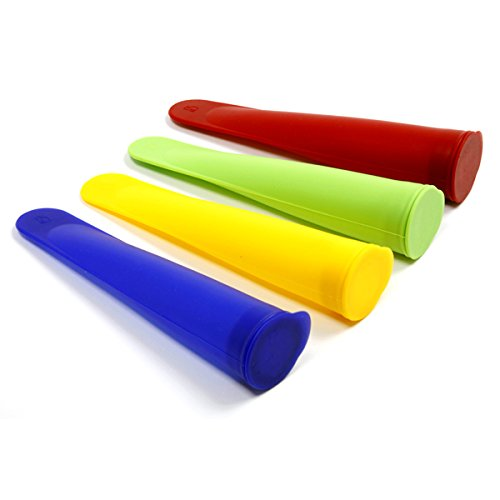 Norpro 4 Piece Silicone Ice Pop Makers – Assorted Colors