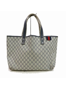 32addf046029 Product Image Navy Supreme Gg Monogram Sherry Web 870496 Blue Coated Canvas  Tote