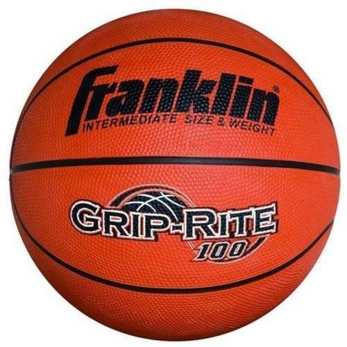 Franklin Sports Grip Rite 100 Rubber Basketball, 29.5