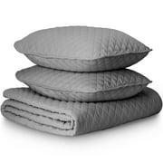 Premium Ultra-Soft Diamond Stitched 2-3 Piece Coverlet & Sham Bedding Set