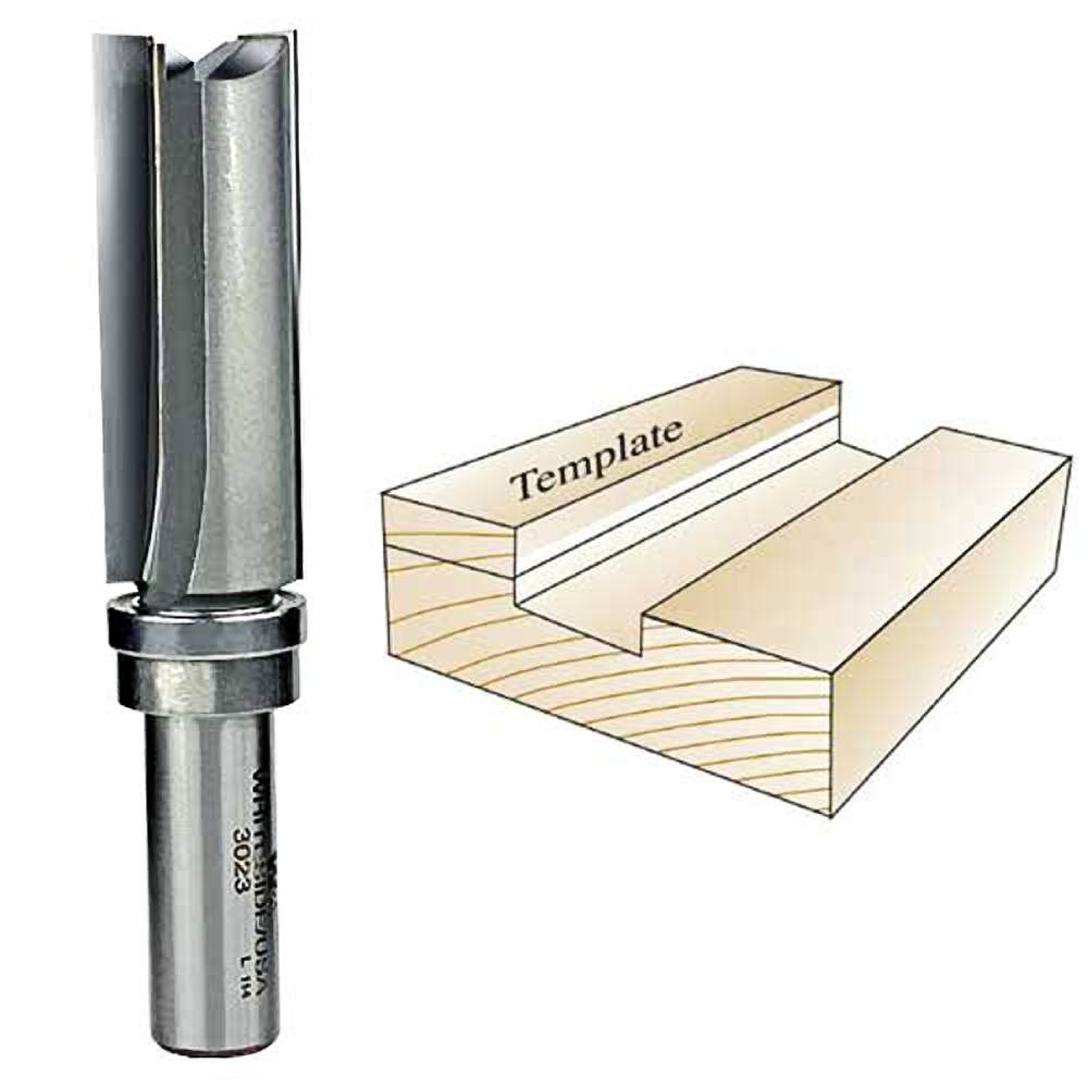 Whiteside Router Bits 3023 Template Bit with Ball Bearing by Whiteside
