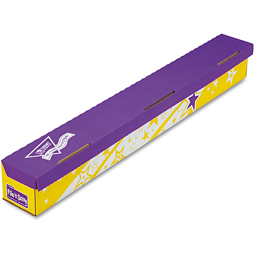 TREND File 'n Save System Trimmer Storage Box, 39-1/2 x 5 x 5, Bright Stars Design