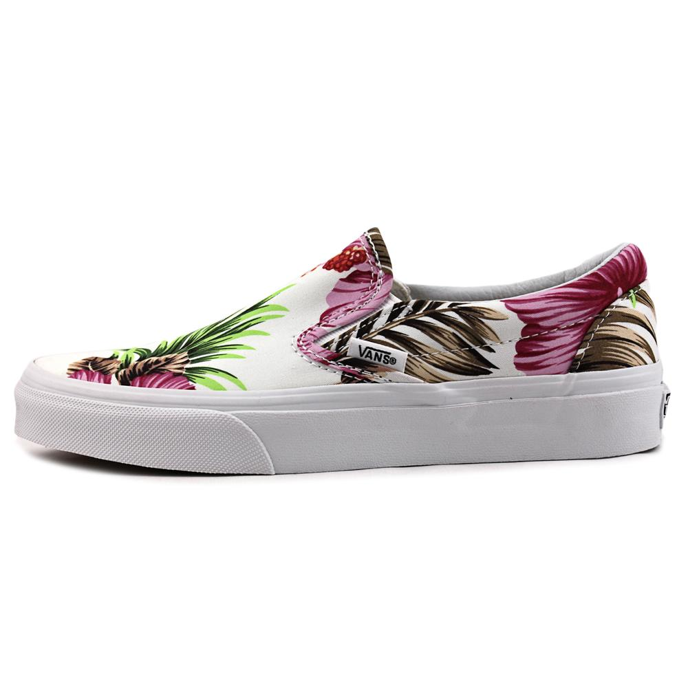 Vans Vans Classic Slip On Hawaiian Floral White Ankle High