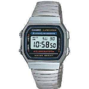 Mother Of Pearl Silver Wrist Watch - Casio Men's Electro Luminescence Digital Bracelet Watch