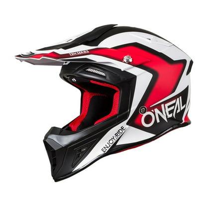 6a380324 Oneal 2018 10 Series Flow True ATV/UTV/MC Helmet - Black/Red - 0624-52 -  Walmart.com