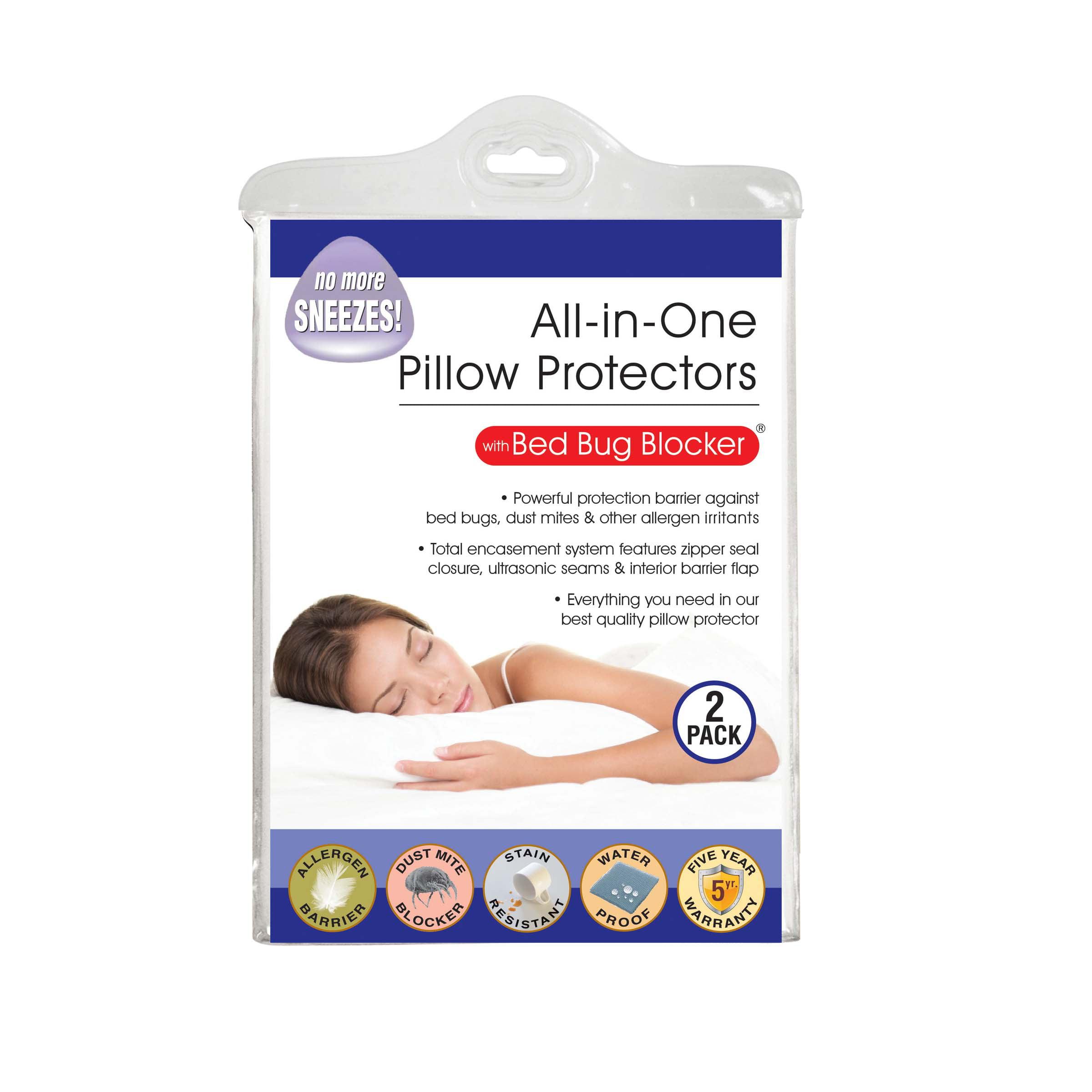 Original Bed Bug Blocker Zippered Pillow Cover Protector Walmart Com