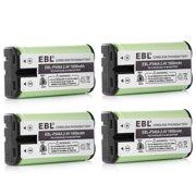 EBL 4-Pack 2.4v 1600mAh Cordless Home Phone Battery for Panasonic 80-5017-00-00 ATT Vtech 3358 HHR-P546A