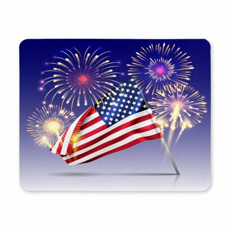 POP Rubber Durable USA Independence Day Celebration Holiday with Fireworks Mousepad, Computer Desk Stationery Accessories Mouse Pads 9x10 inch - image 2 of 2
