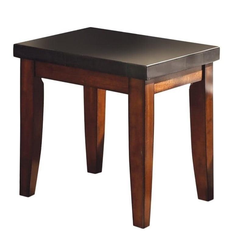 Steve Silver Company Montibello Granite Top End Table