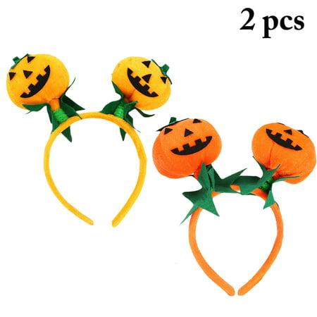 2PCS Halloween Hair Hoops Pumpkin Cosplay Head Hoops Party Hair Hoops Party Favors Costume Masquerade Accessories for Kids Women - Masquerade Costume For Kids