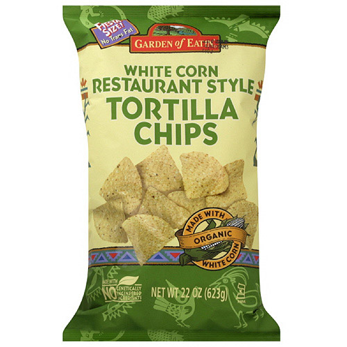 Garden Of Eatin' Restaurant Style White Corn Tortilla Chips, 22 oz (Pack of 10)