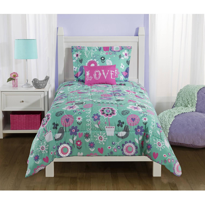 Mainstays Kids Spring Birds Bedding Comforter Set by MAINSTAYS
