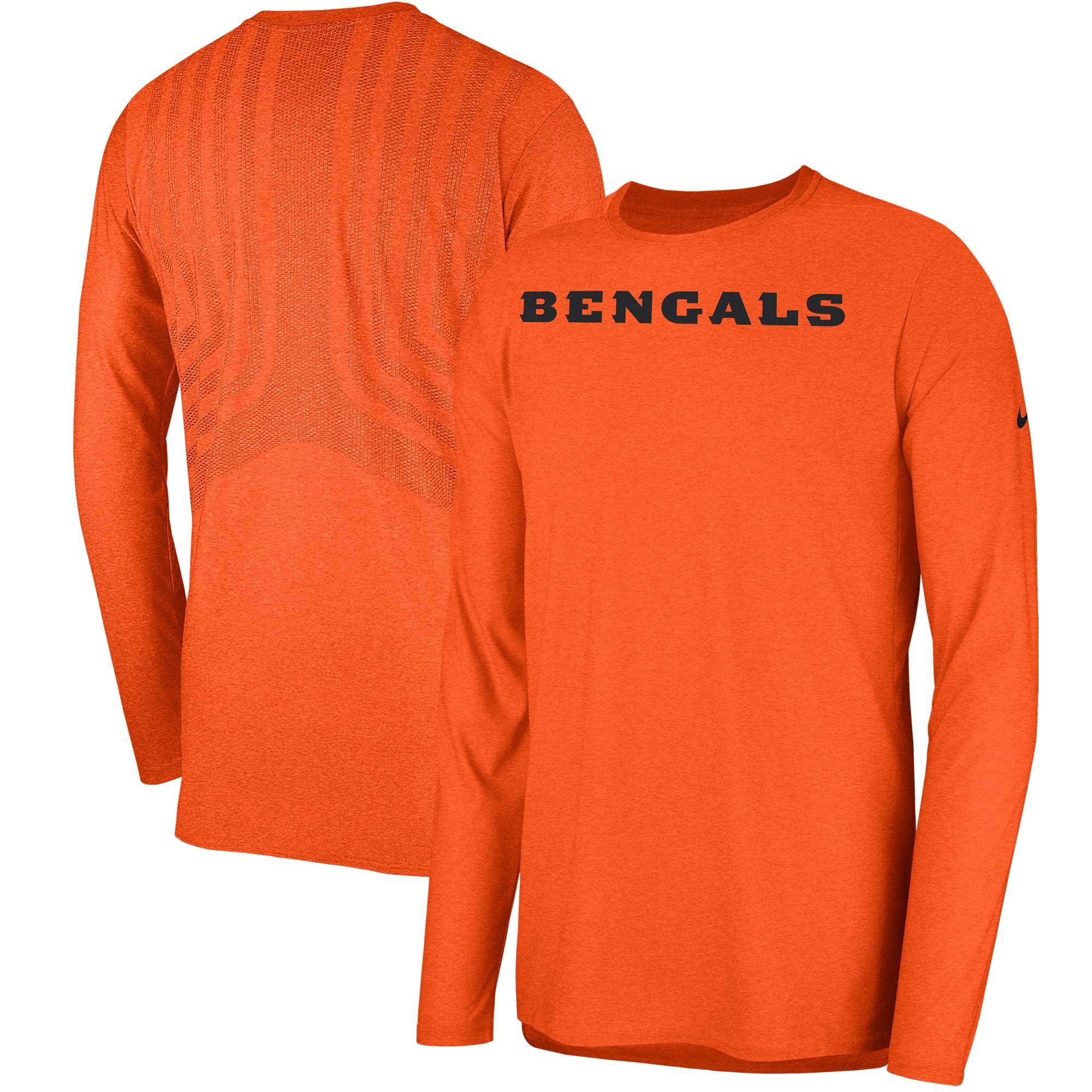 Cincinnati Bengals Nike Sideline Player Long Sleeve T-Shirt - Orange