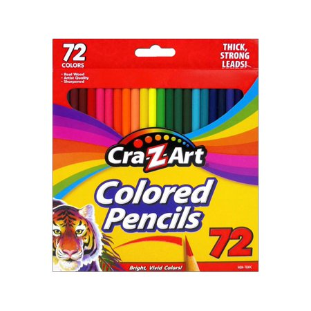 cra z art colored pencil set 72pc