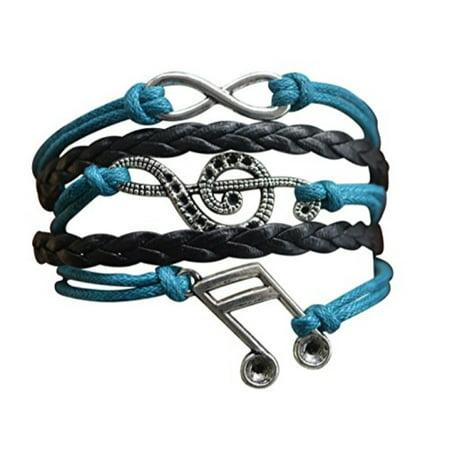 music bracelet - music jewelry - music gift - treble clef jewelry - music note- music lover jewelry gift (Lover Music)
