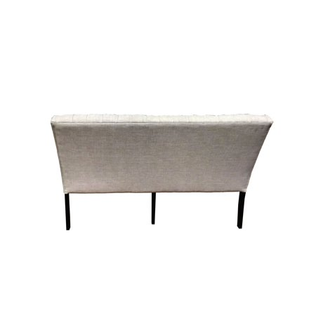 Best Master Furniture Rustic 3 Seater Tufted Beige Linen Fabric
