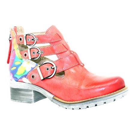 Dromedaris Kelsy Flower Buckle Boot (Women's) O5N6M