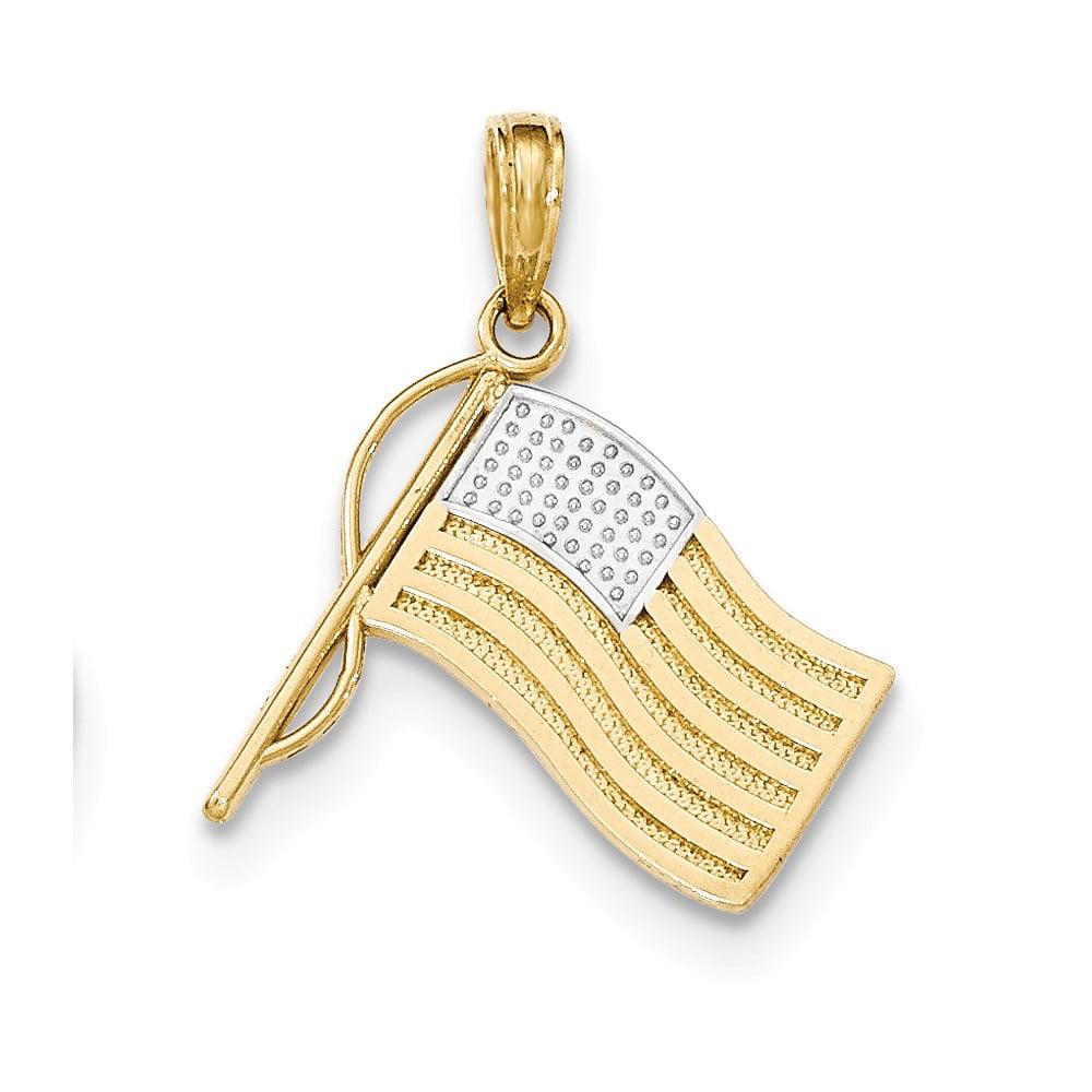 10K Gold Swimming Charm Pendant 0.71 in x 0.91 in