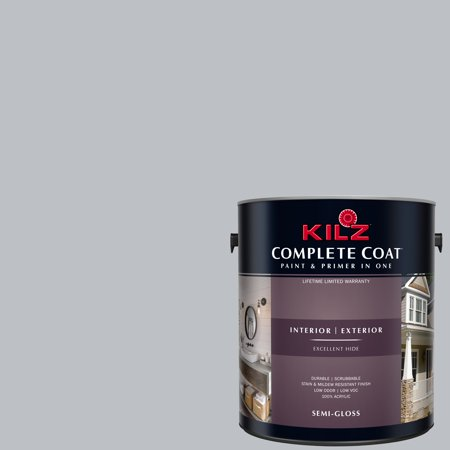 KILZ COMPLETE COAT Interior/Exterior Paint & Primer in One, #RK180 Platinum Ring