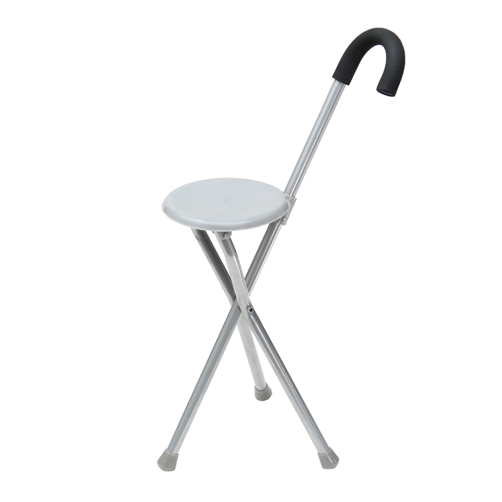 Travel Cane Walking Stick Seat Camp Folding Portable Stool