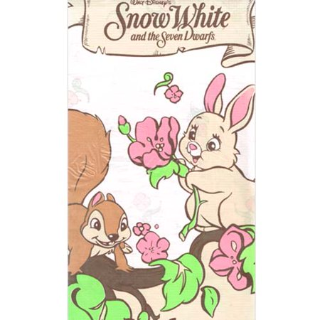 Snow White and the Seven Dwarfs Vintage Paper Table Cover (1ct)