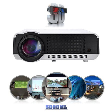 2017 Professional 5000 Lm Full Hd 1080P Led86 Lcd 3D Home Theater Projector