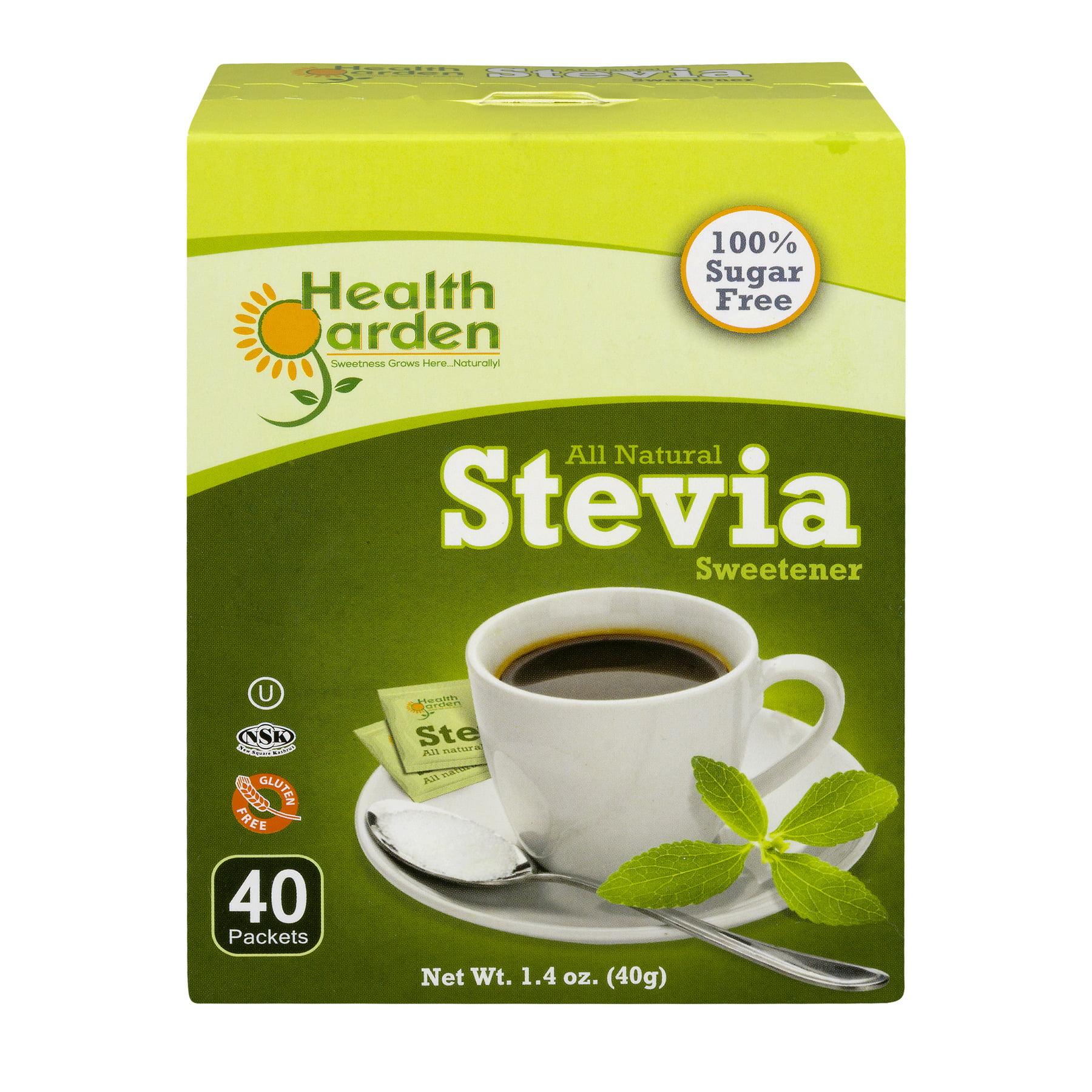 Health Garden All Natural Stevia Sweetener, 40 CT