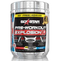 Six Star Pro Nutrition Pre Workout Explosion Powder, Icy Rocket Freeze, 40 Servings
