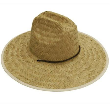 Easy Gardener MS0003 Mens Straw Hat Flat Weave, One