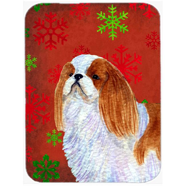 Carolines Treasures SS4714LCB English Toy Spaniel Red Snowflakes Christmas, Glass Cutting Board - Large - image 1 de 1