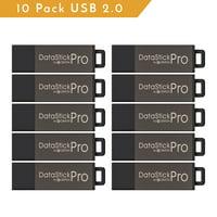 Centon ValuePack USB 2.0 Datastick Pro (Grey), 4GB 10 Pack