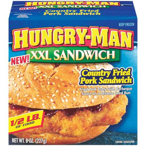 Hungry-man Hungry Man Xxl Pork Cutlet Sandwich