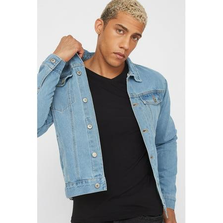 Urban Planet Men's Detachable Fleece Hood Denim Jacket - image 3 of 5