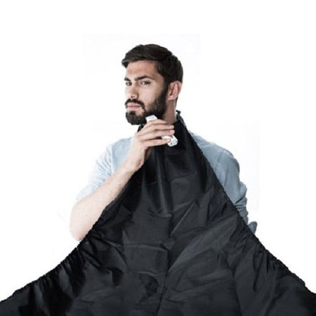 black beard apron whiskers cloth bib facial hair trimmer catcher cape 120cmx79cm. Black Bedroom Furniture Sets. Home Design Ideas