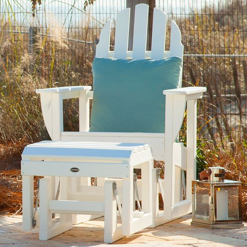 POLYWOOD Adirondack Glider Chair by Polywood
