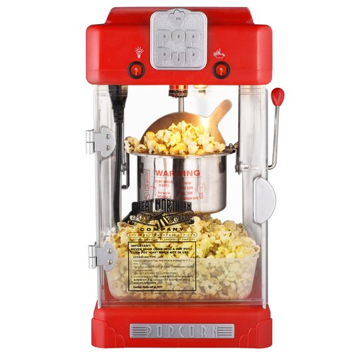 Great Northern Popcorn Machine Pop Pup Retro Style Popcorn Popper, 2.5 Ounce
